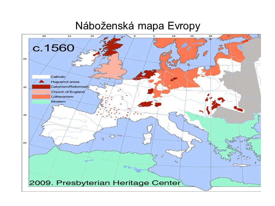 Náboženská mapa Evropy