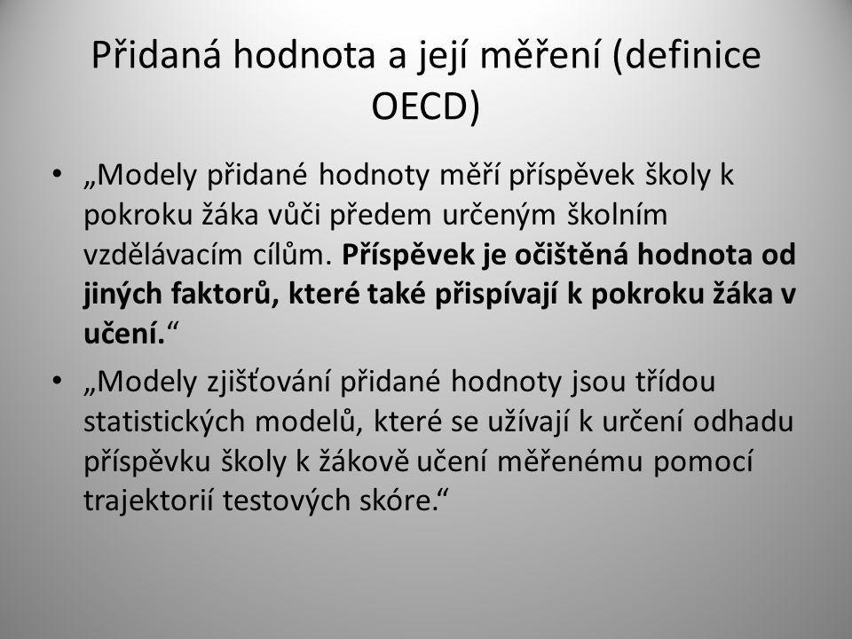 Přidaná hodnota a její měření (definice OECD)