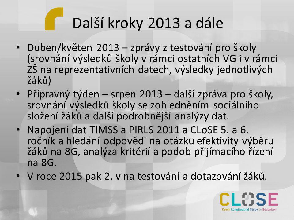 Další kroky 2013 a dále