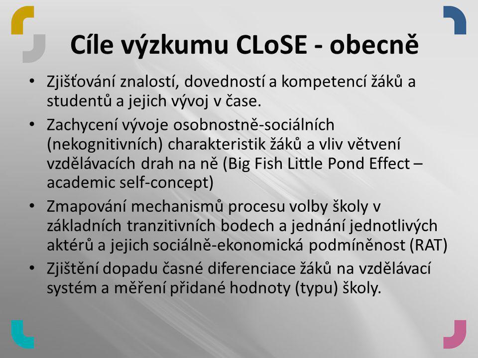Cíle výzkumu CLoSE - obecně