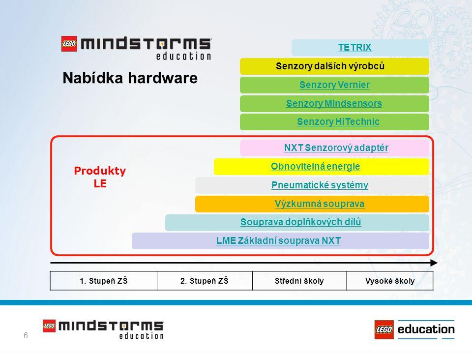 Nabídka hardware Produkty LE TETRIX Senzory dalších výrobců