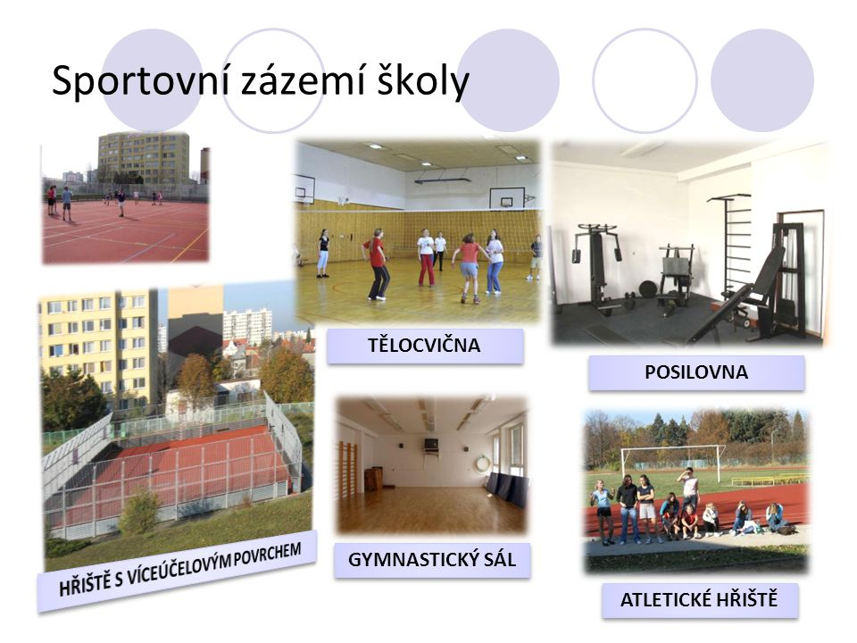 Sportovní zázemí školy