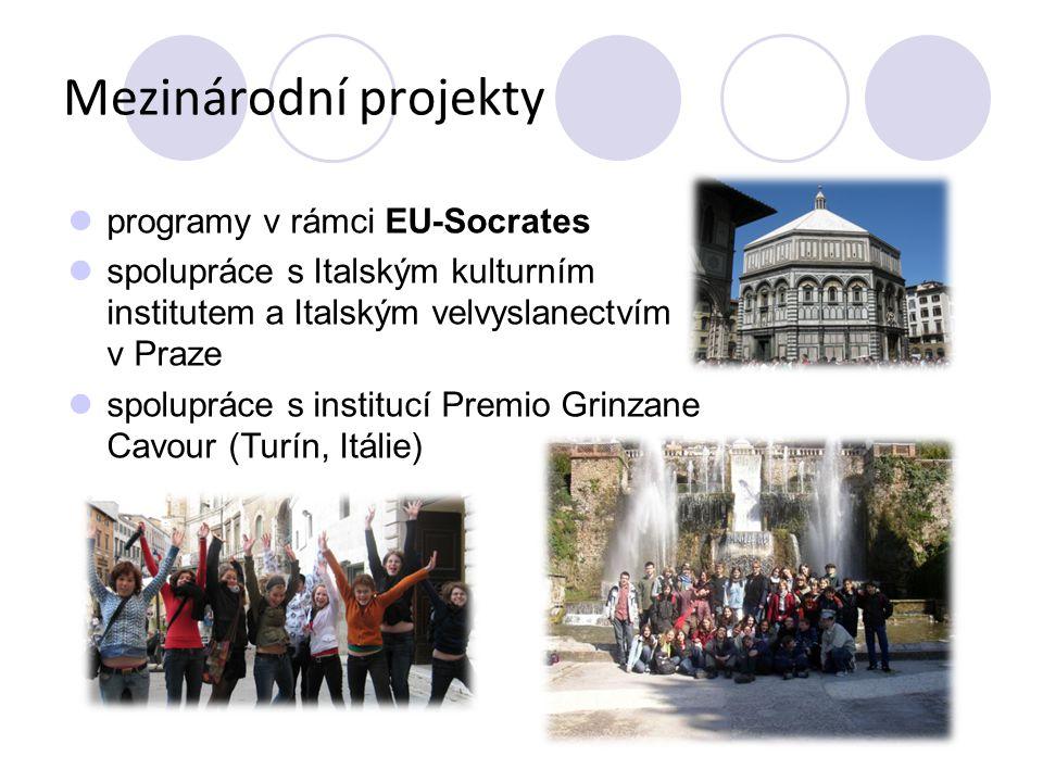 Mezinárodní projekty programy v rámci EU-Socrates