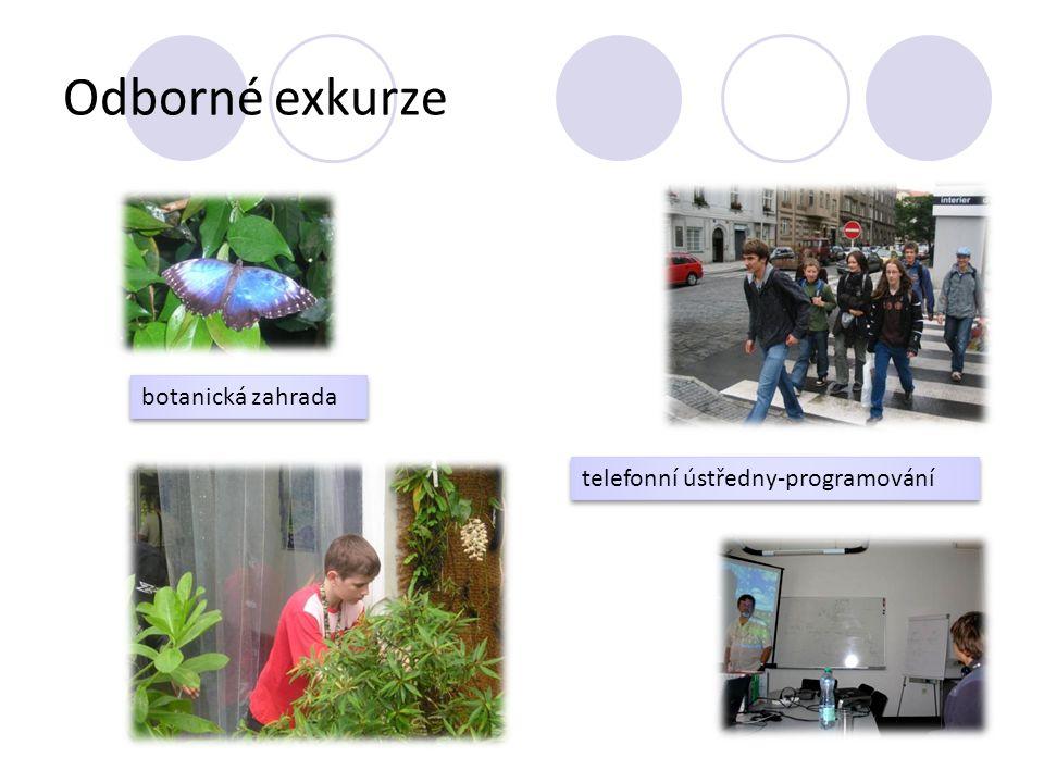 Odborné exkurze botanická zahrada telefonní ústředny-programování