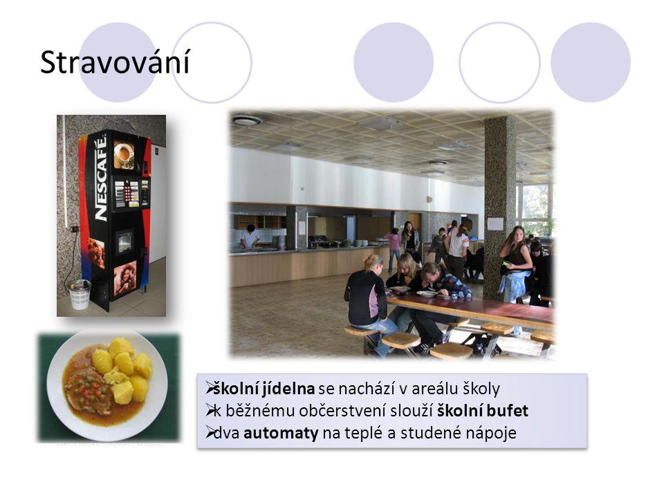 Stravování školní jídelna se nachází v areálu školy