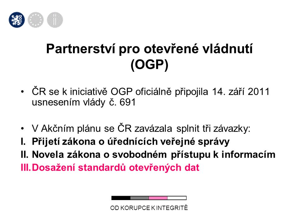 Partnerství pro otevřené vládnutí (OGP)