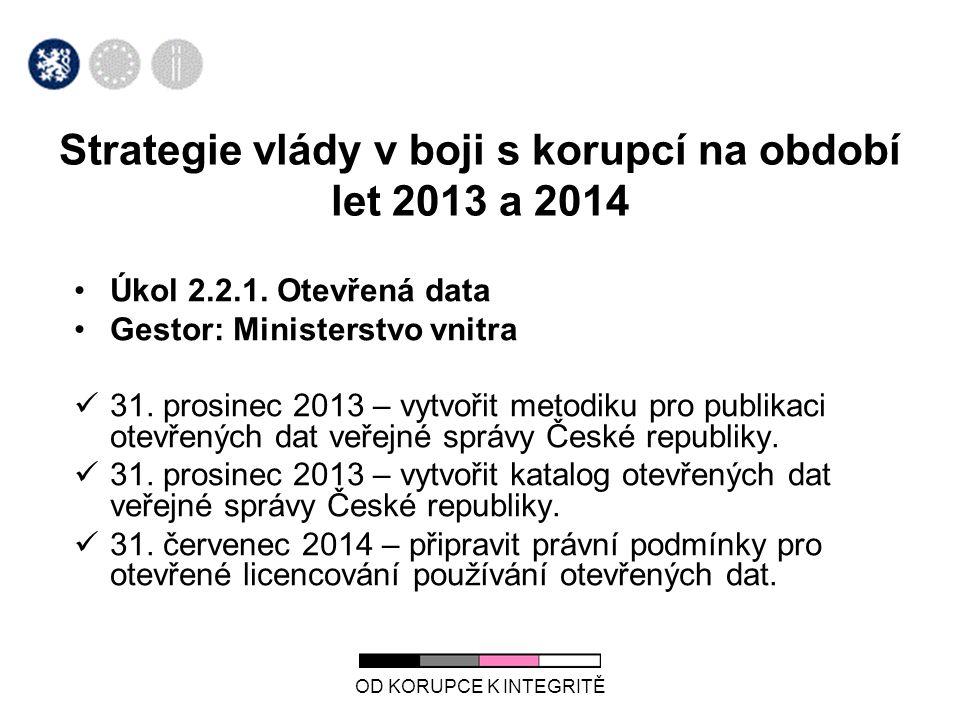 Strategie vlády v boji s korupcí na období let 2013 a 2014