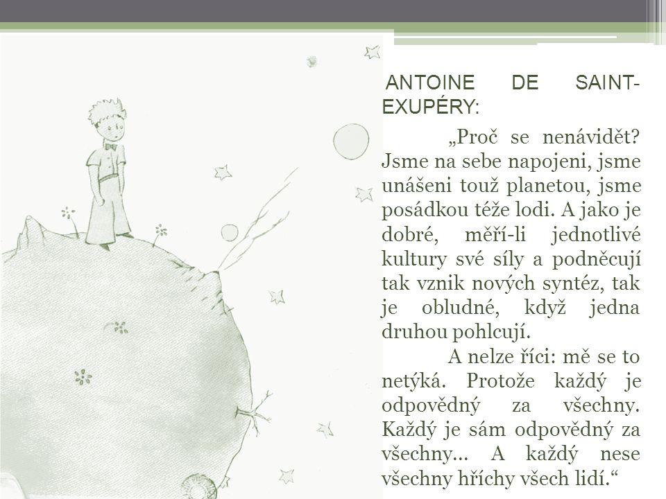 ANTOINE DE SAINT- EXUPÉRY: