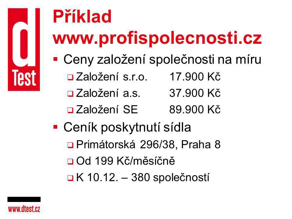 Příklad www.profispolecnosti.cz