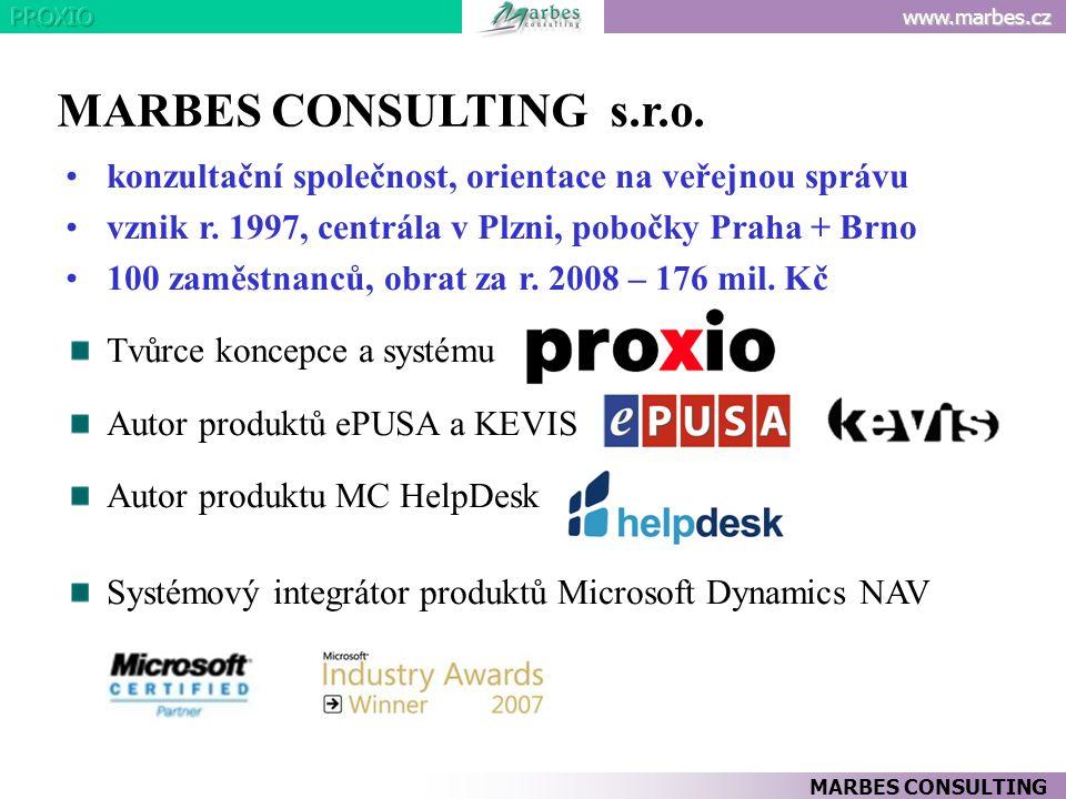 MARBES CONSULTING s.r.o. konzultační společnost, orientace na veřejnou správu. vznik r. 1997, centrála v Plzni, pobočky Praha + Brno.