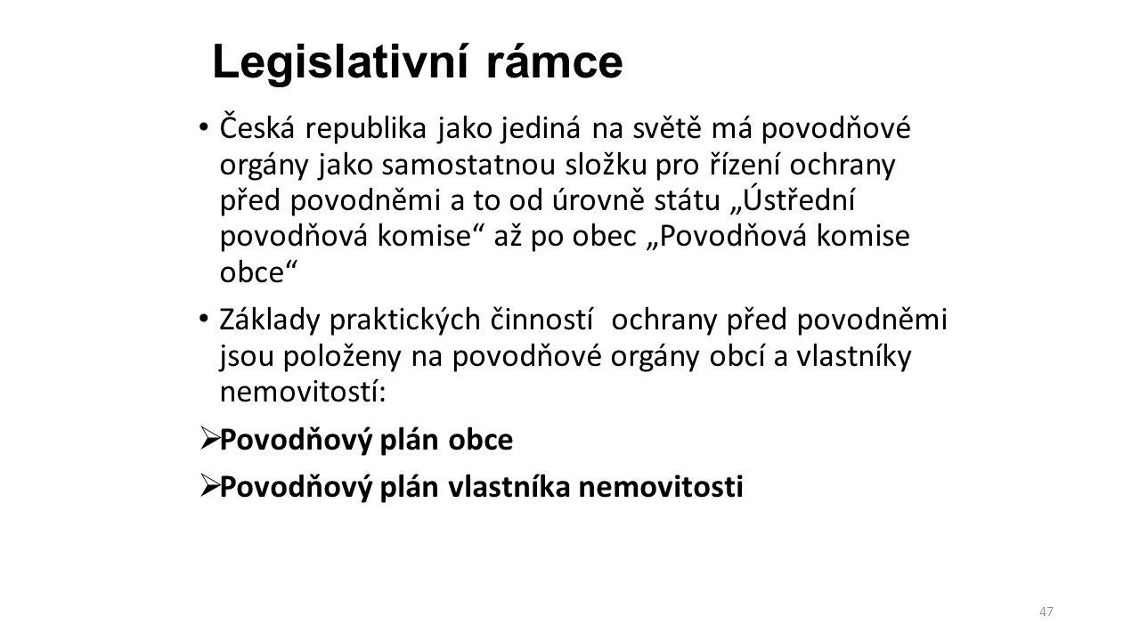 Legislativní rámce