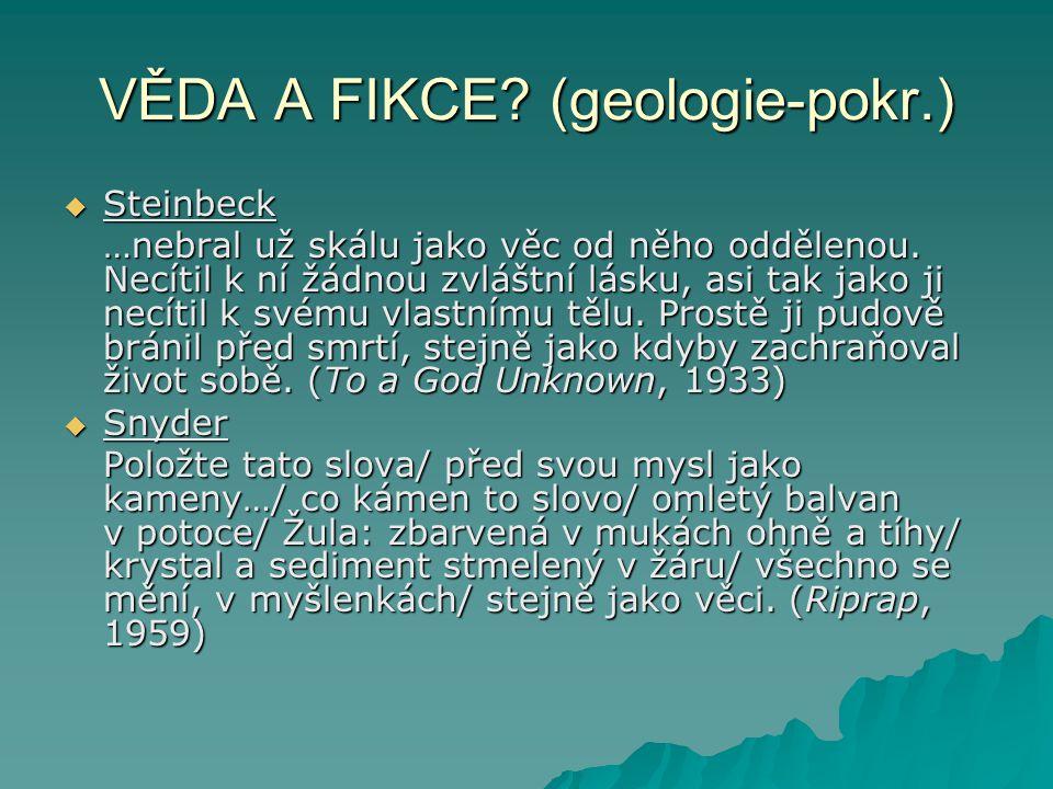 VĚDA A FIKCE (geologie-pokr.)