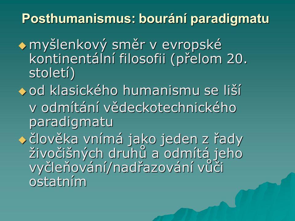 Posthumanismus: bourání paradigmatu