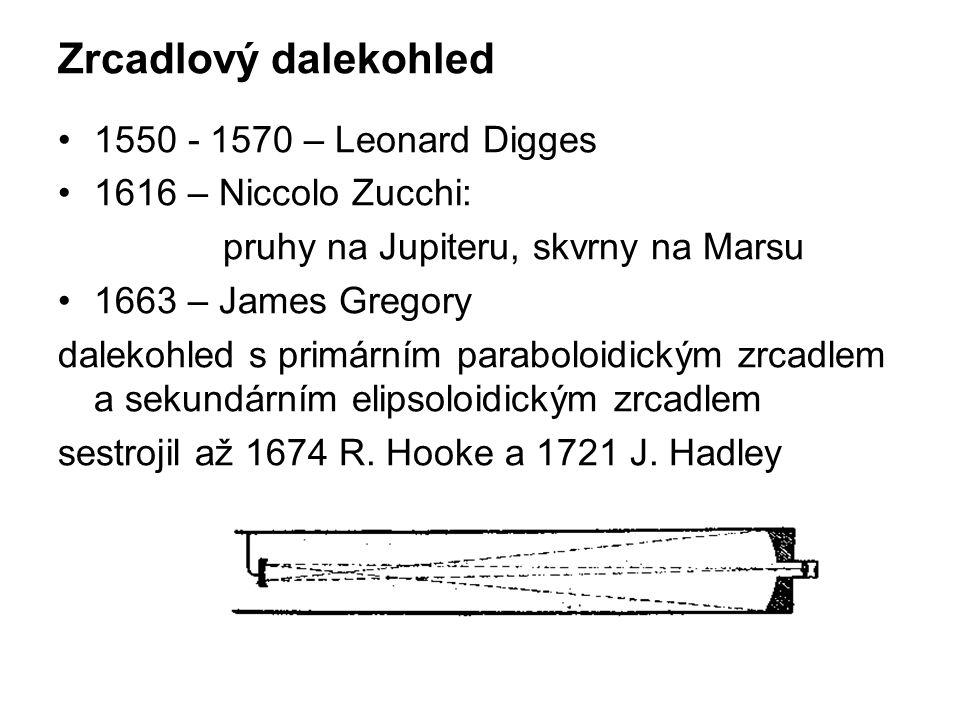 Zrcadlový dalekohled 1550 - 1570 – Leonard Digges