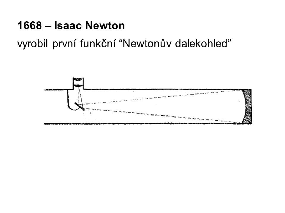 1668 – Isaac Newton vyrobil první funkční Newtonův dalekohled
