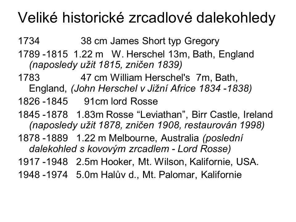 Veliké historické zrcadlové dalekohledy