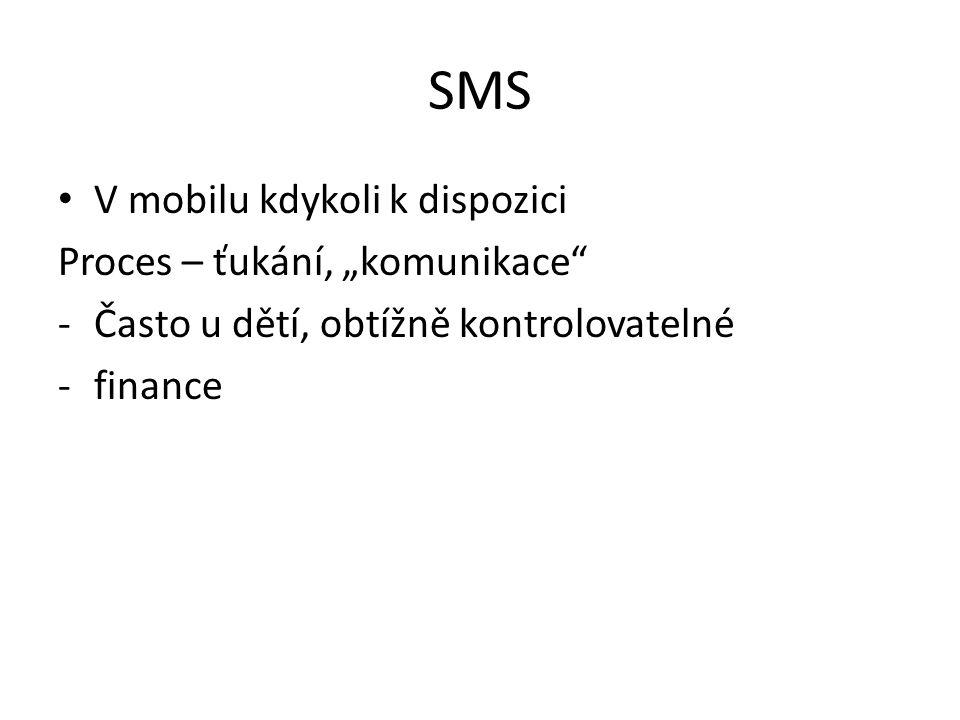 """SMS V mobilu kdykoli k dispozici Proces – ťukání, """"komunikace"""