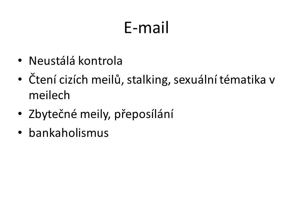 E-mail Neustálá kontrola