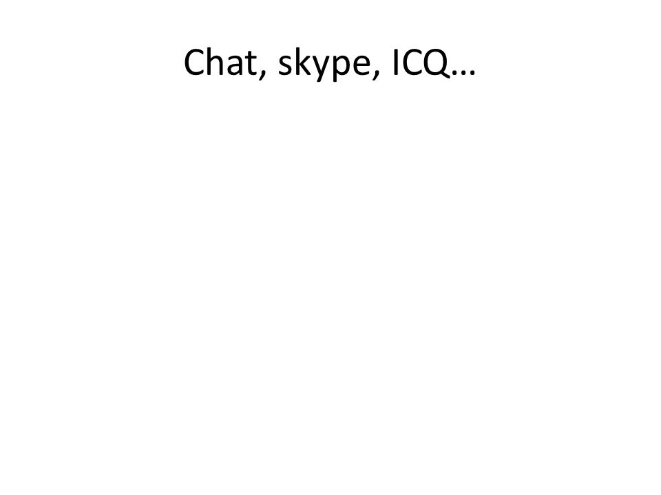 Chat, skype, ICQ… 30
