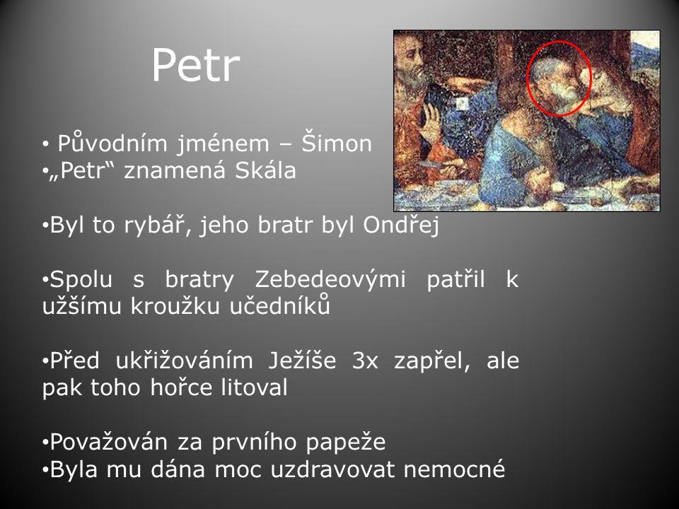 """Petr Původním jménem – Šimon """"Petr znamená Skála"""