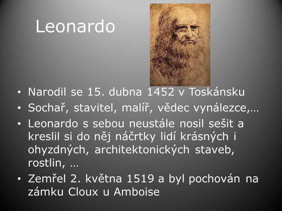 Leonardo Narodil se 15. dubna 1452 v Toskánsku