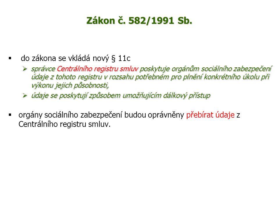 Zákon č. 582/1991 Sb. do zákona se vkládá nový § 11c