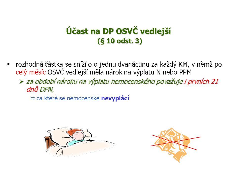 Účast na DP OSVČ vedlejší (§ 10 odst. 3)