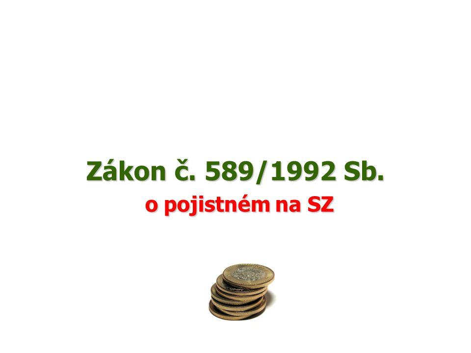 Zákon č. 589/1992 Sb. o pojistném na SZ