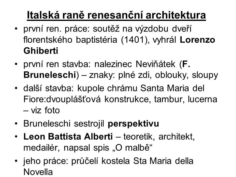 Italská raně renesanční architektura