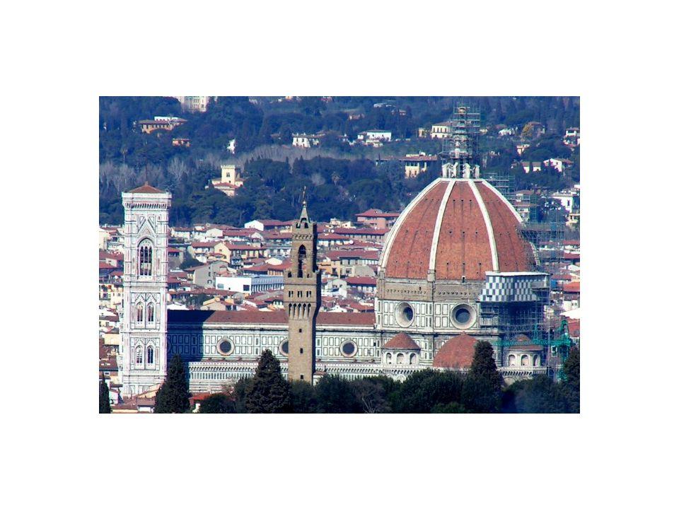 Kupole katedrály Santa Maria del Fiore je jednou z nejvýznamnějších staveb Filippa Bruneleschiho