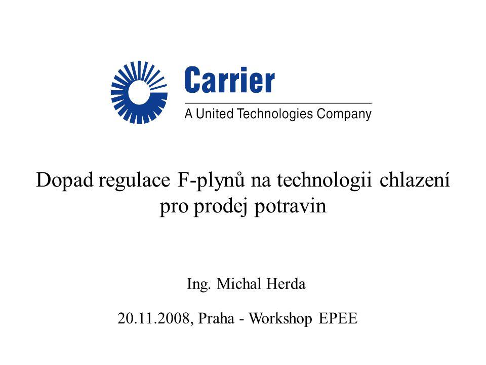Dopad regulace F-plynů na technologii chlazení