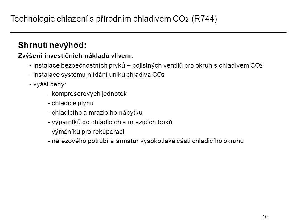 Technologie chlazení s přírodním chladivem CO2 (R744)