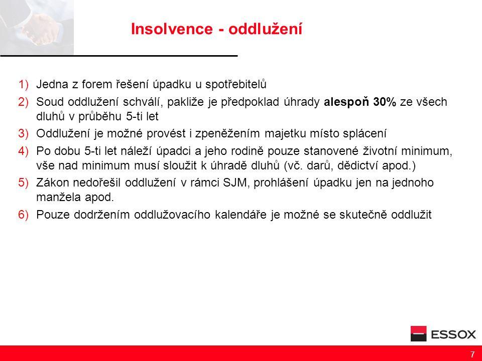 Insolvence - oddlužení