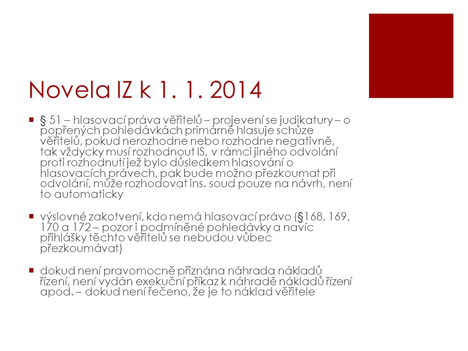 Novela IZ k 1. 1. 2014