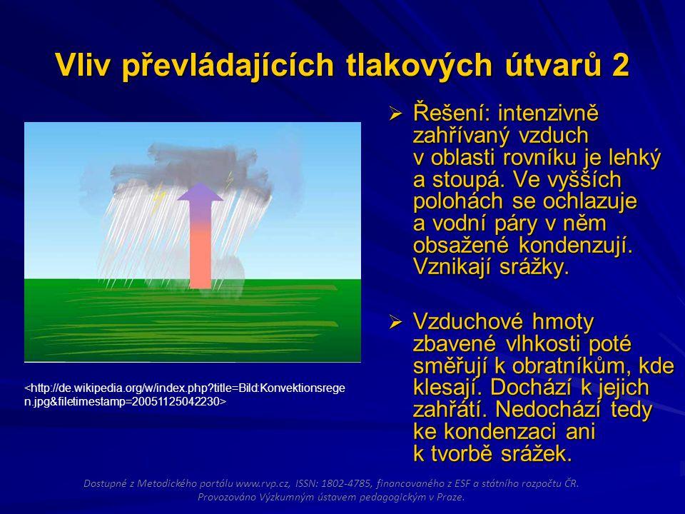 Vliv převládajících tlakových útvarů 2