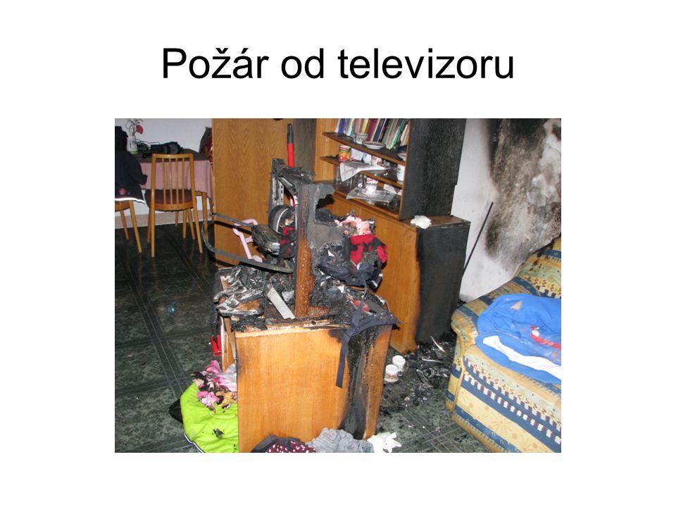 Požár od televizoru
