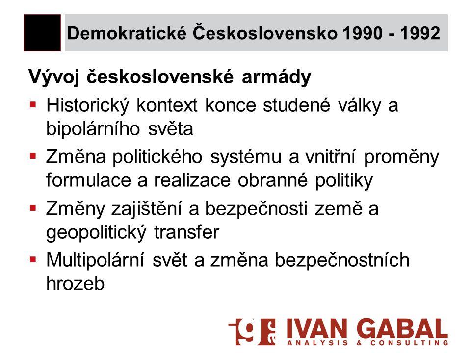 Demokratické Československo 1990 - 1992