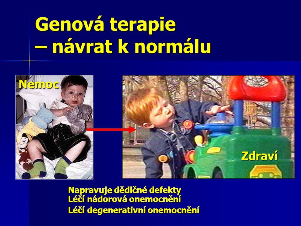 Genová terapie – návrat k normálu