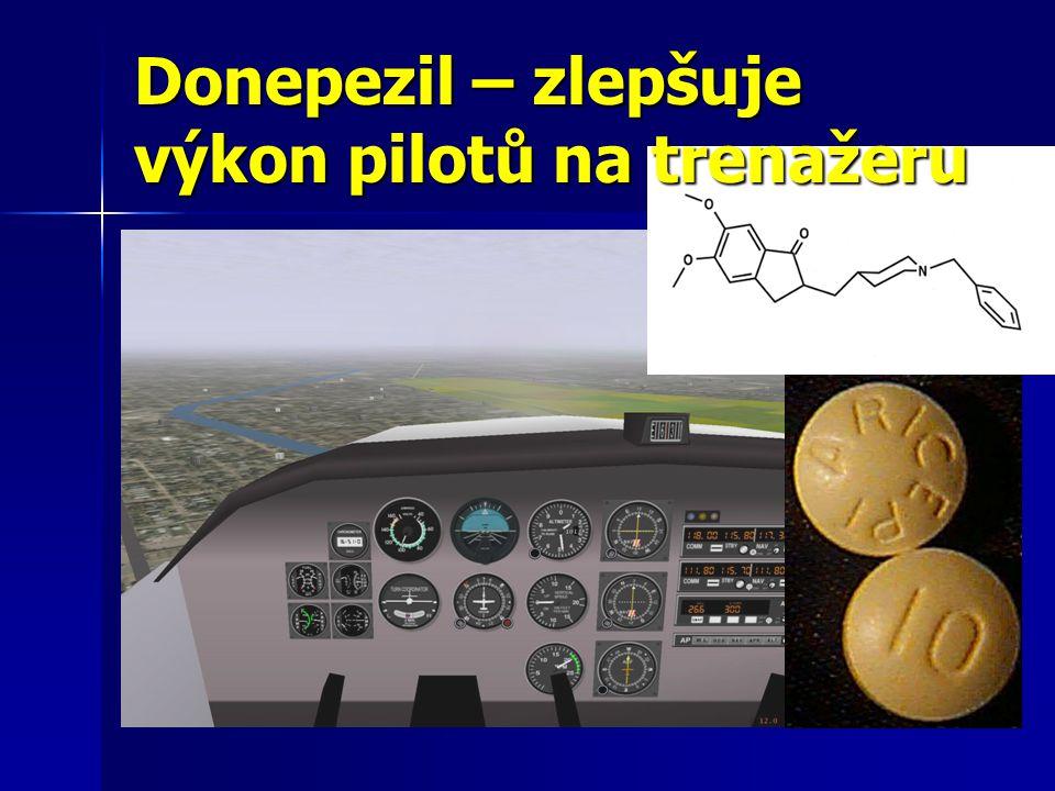Donepezil – zlepšuje výkon pilotů na trenažeru