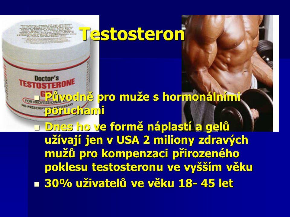 Testosteron Původně pro muže s hormonálními poruchami