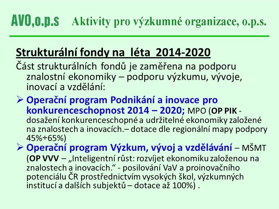 Strukturální fondy na léta 2014-2020