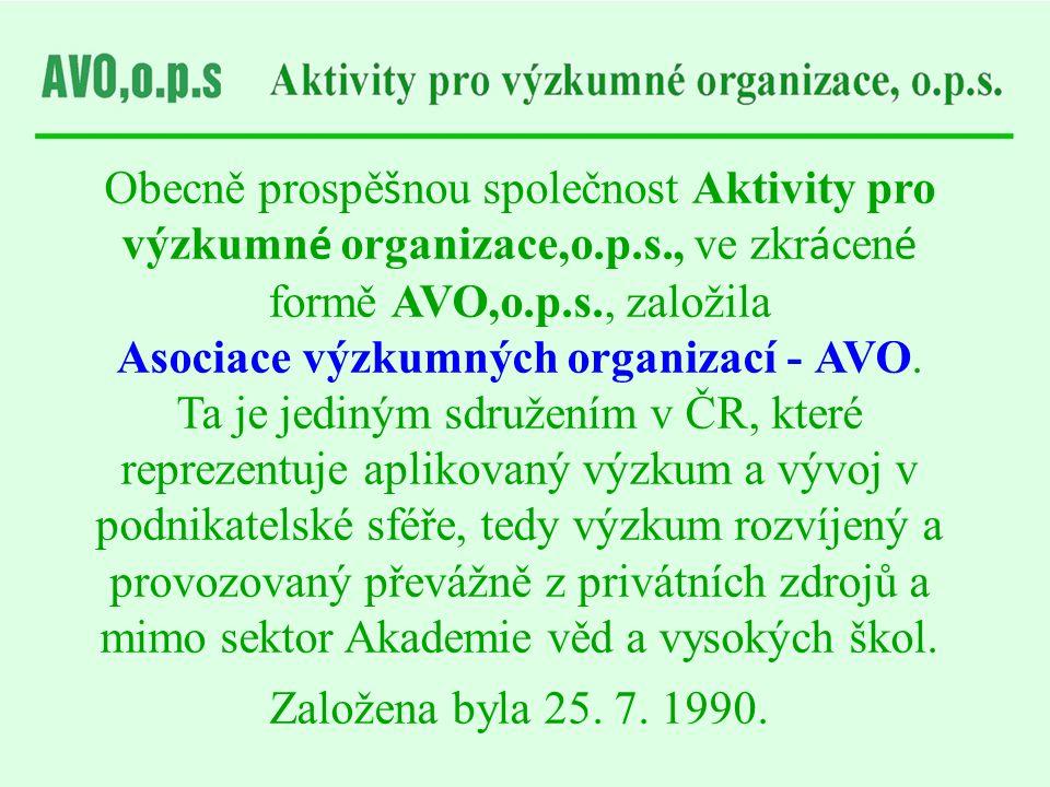 Asociace výzkumných organizací - AVO.