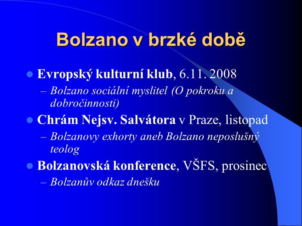 Bolzano v brzké době Evropský kulturní klub, 6.11. 2008