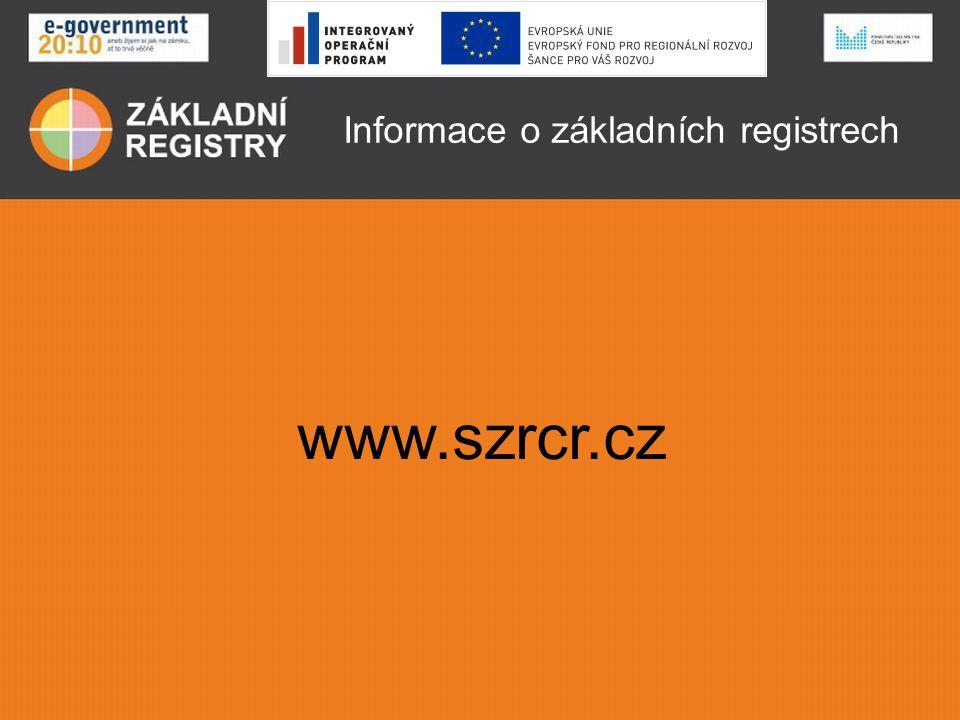 Informace o základních registrech