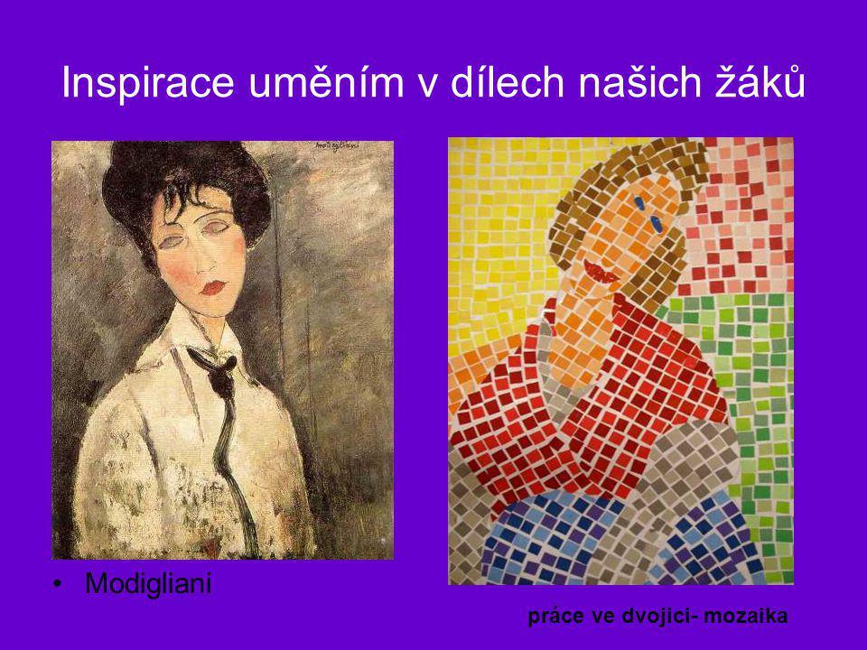 Inspirace uměním v dílech našich žáků