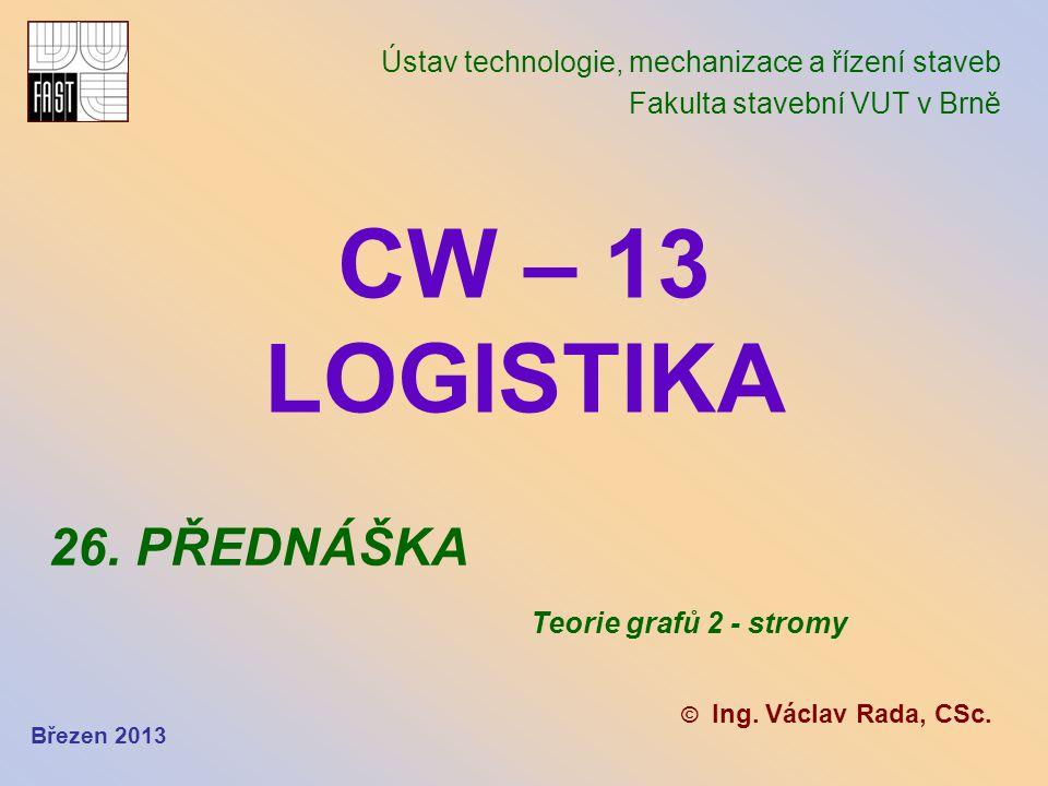CW – 13 LOGISTIKA 26. PŘEDNÁŠKA