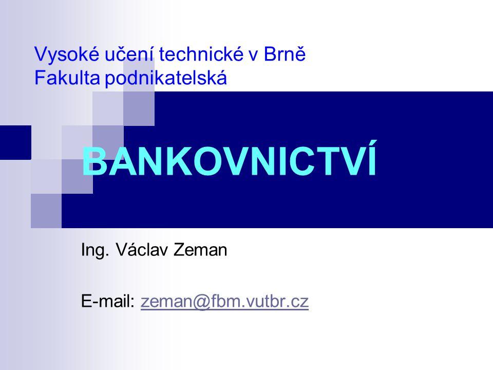 Vysoké učení technické v Brně Fakulta podnikatelská