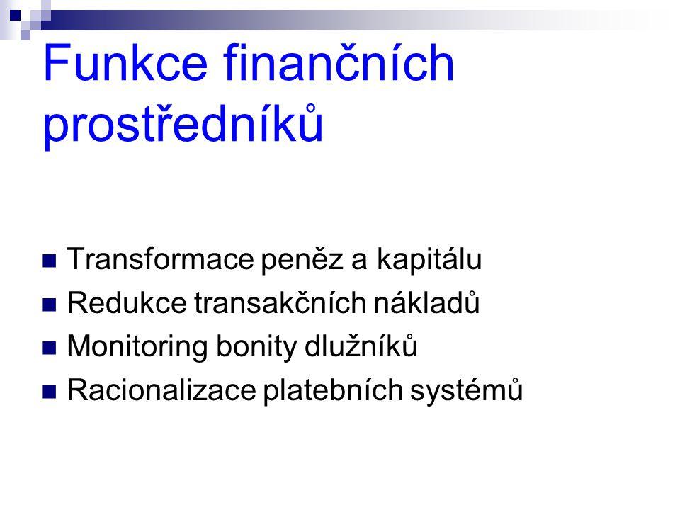 Funkce finančních prostředníků
