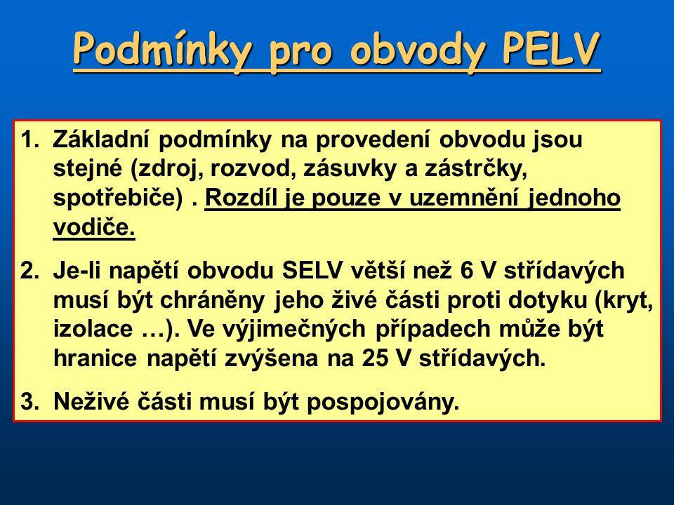 Podmínky pro obvody PELV