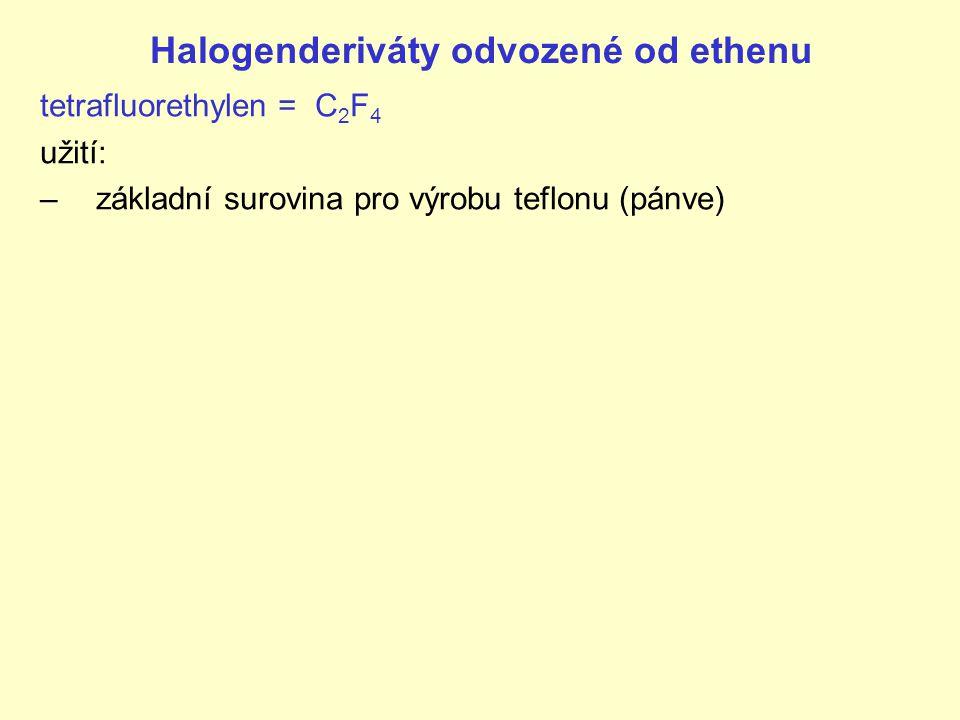 Halogenderiváty odvozené od ethenu